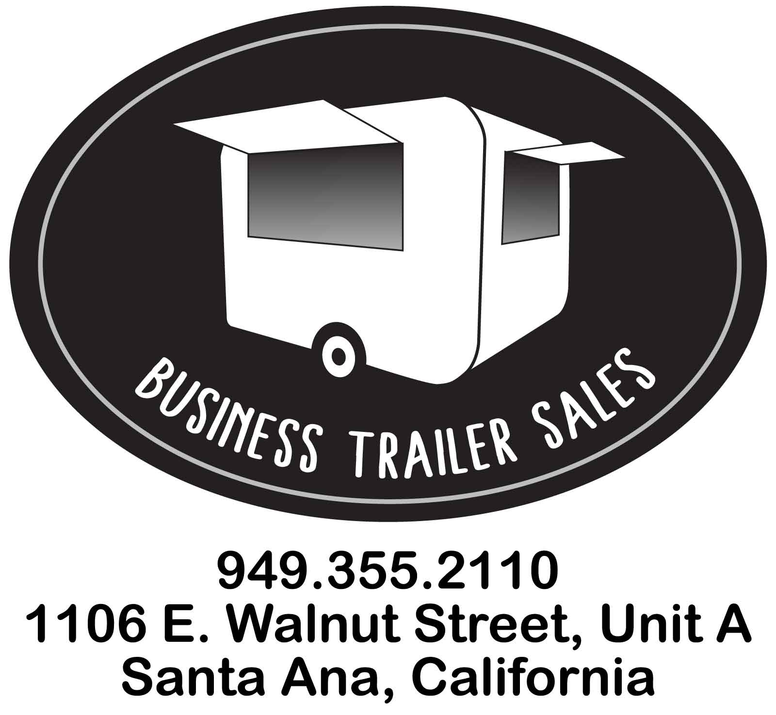 Business Trailer Sales Logo and contact information